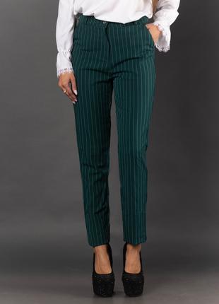 Женские брюки в полоску с карманами 2015