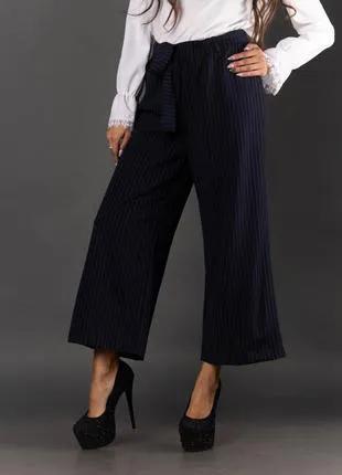 Женские брюки-кюлоты с поясом 2004