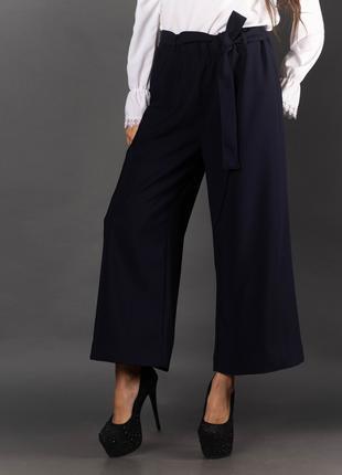 Женские брюки-кюлоты с поясом 2005