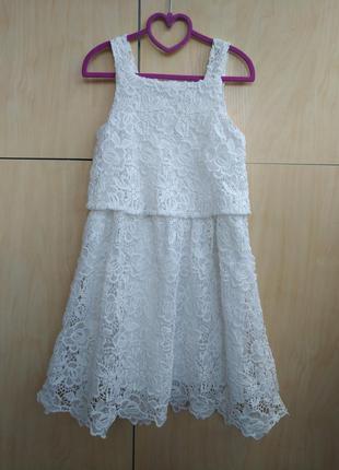 Красивое ажурное платье primark на 9-10 лет