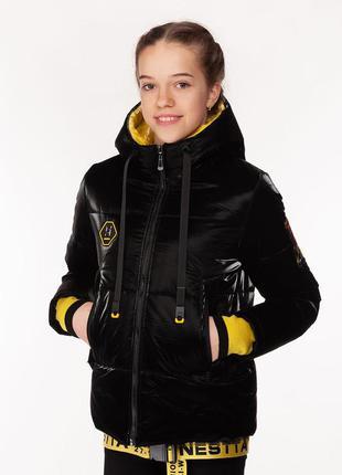 Vanessa - детская демисезонная куртка, цвет черный
