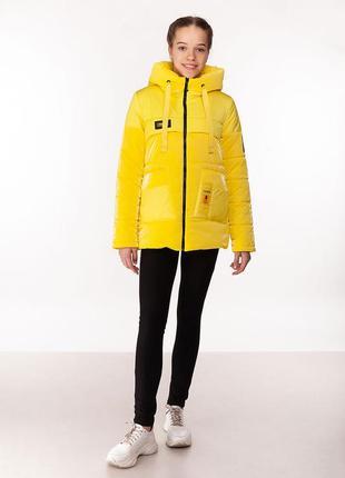 Rina - детская демисезонная куртка, цвет желтый