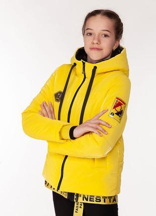 Vanessa - детская демисезонная куртка, цвет желтый