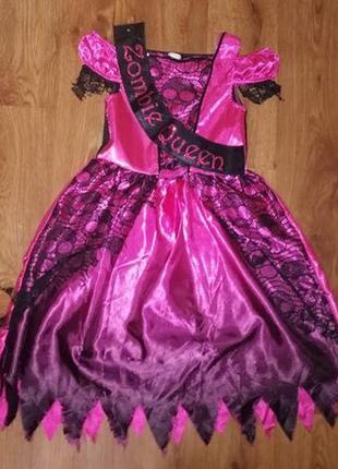 🔥🔥🔥карнавальное платье на девочку 5-6 лет зомби принцесса на х...