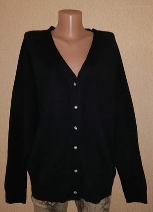 🔥🔥🔥стильная женская черна теплая кофта, джемпер, кардиган на п...