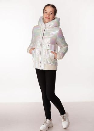 Kristy - детская демисезонная куртка, цвет белый