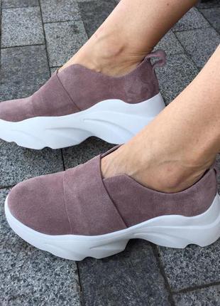 Стильные кросовки натуральная замша