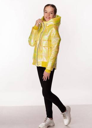 Kristy - детская демисезонная куртка, цвет желтый