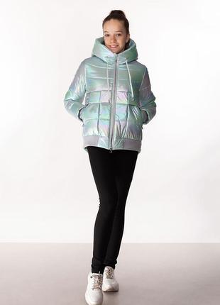 Kristy - детская демисезонная куртка, цвет бирюза