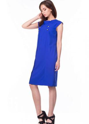 Платье женское летнее цвет электрик свободного кроя молодежное