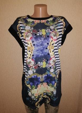 🔥🔥🔥красивая женская трикотажная футболка, кофта, стразы, камни...