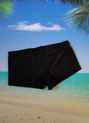 Плавки-шортики черные