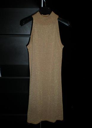 Роскошное котельное платья футляр h&m (золотое)