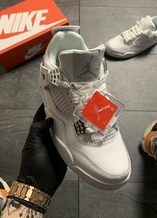 Nike air jordan 4 retro full white мужские кроссовки найк джор...
