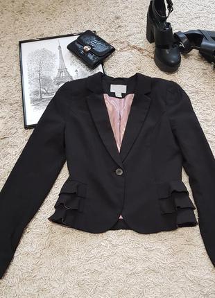 🔥ценопад🔥шикарный очень стильный пиджак черного цвета в идеаль...