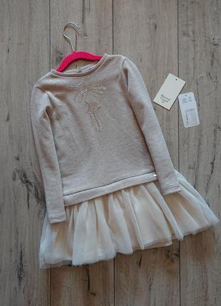 Платье трикотажное с фатиновой юбкой майорал mayoral 6-7 лет