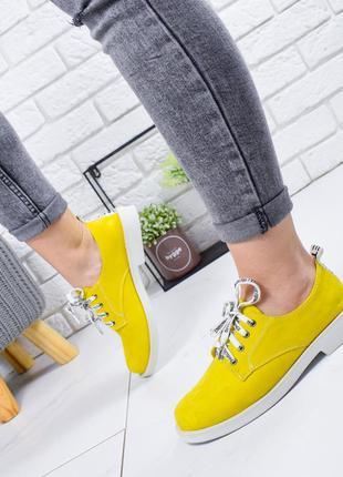 ❤ женские желтые лоферы туфли  ❤