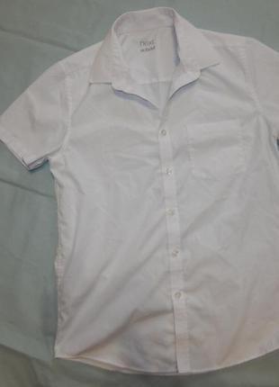 Рубашка белая школьная на мальчика 12 лет 152см