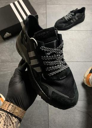 Мужские чёрные кроссовки адидас, демисезон весна-осень adidas ...