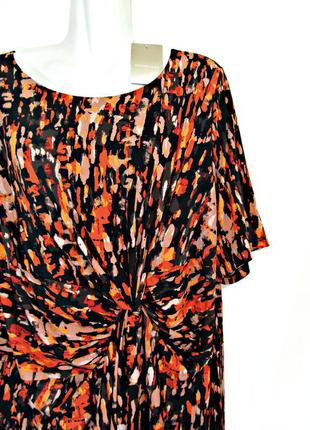 Скидка до 15.03! яркое эффектное платье с узлом спереди с драп...