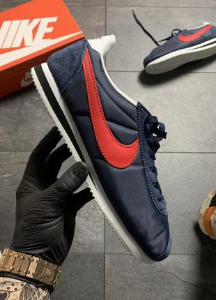 Nike cortez blue red.