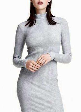 Базовое платье гольф , в рубчик