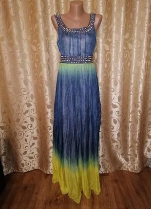 🌺🎀🌺красивый женский длинный сарафан, платье в пол с шипами mva...