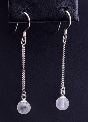 Серьги 'sunstones' розовый кварц серебро(925) 0790600