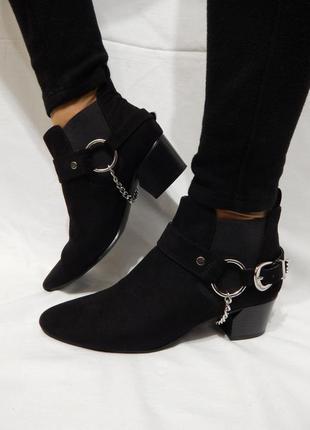 Полусапожки казаки чобітки ботинки forever 21