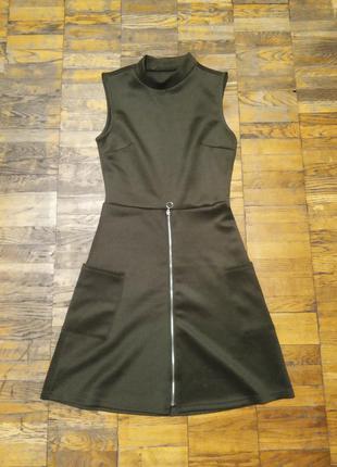 Платье цвет хаки xs