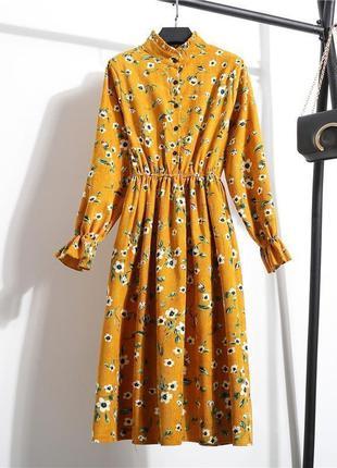 Вельветовое платье s и m
