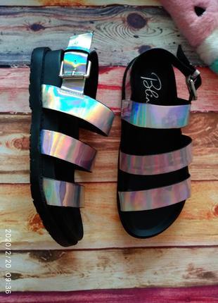 Голографические 🔥 сандалии/ босоножки blink
