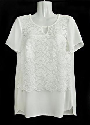 Распродажа! красивая блуза с цветочным кружевом р.12