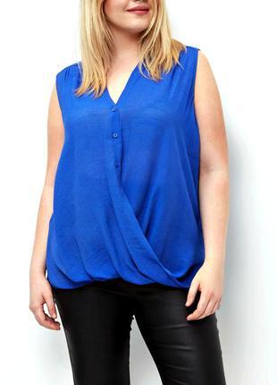 Оригинальная блуза роскошного синего цвета р.20