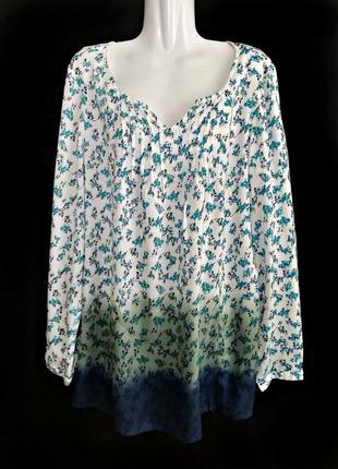 Цветочная блуза из качественной вискозы от немецкого бренда sh...