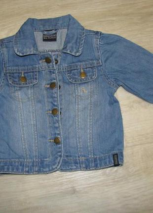 Джинсовая куртка рост 86 см 1-1,5 года 12-18 месяцев на девочк...
