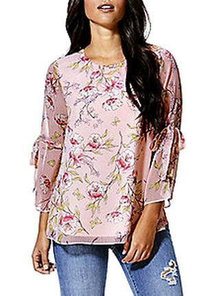 Распродажа! женственная блуза с оригинальными рукавами р.18