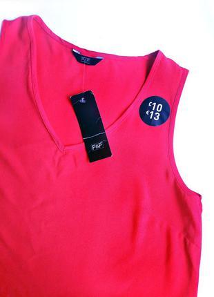 Распродажа! удлиненная малиновая блуза р.10