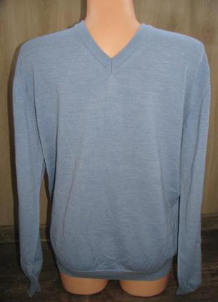 Пуловер джемпер 50-52 р. реглан свитер мужской woolmark blend ...