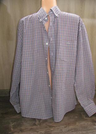 Большая мужская рубашка 45-46 ворот