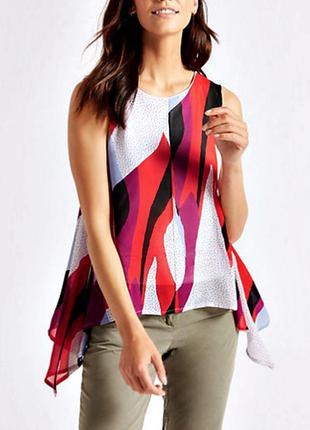 Распродажа! красочная блуза асимметричного кроя р.16