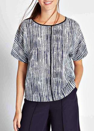 Распродажа! блуза-кимоно в контрастную полоску р.20