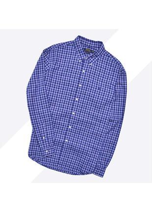 Polo ralph lauren xxl / идеальная синяя рубашка в клетку с лог...