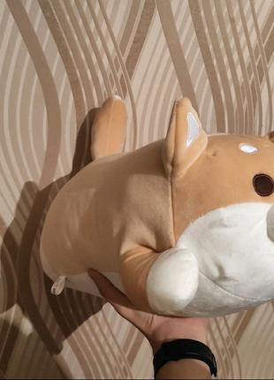 Новая мягкая игрушка подушка собака 50см собачка подарок
