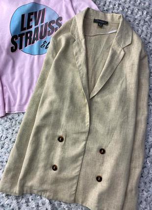 Льняной пиджак, блейзер, жакет primark