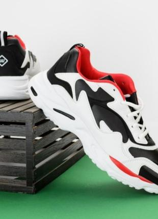 Мужские черно- белые кроссовки