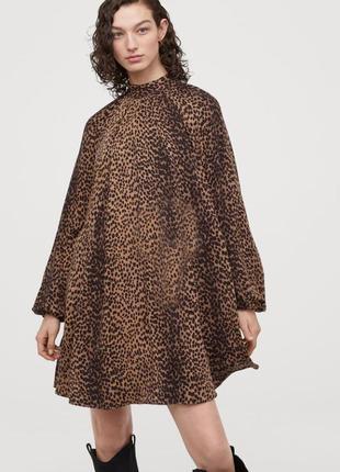 Леопардовое  трендовое  платье h&m  s-m-l