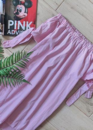 Красивая удлиненная блуза блузка туника с открытыми плечами в ...