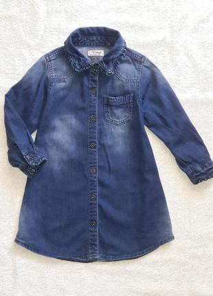 Оригинальное платье-рубашка next на 2-3 года