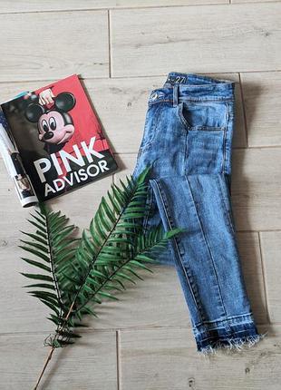 Базовые зауженные джинсы скинни с полосками skinny р.26 27